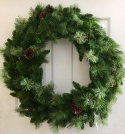 MIXED PINE WREATH 60 CM